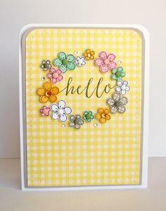 Hampton Art Blog: Hello card by Nicole Nowosad