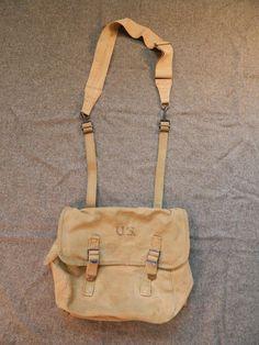 96f8aca0f947 7 Best World War II 50's Swiss Mountain army bag leather canvas ...