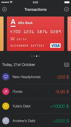 Walle Finance App [New Transaction Screen] / Alexander Zaytsev