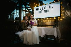 Artificial lighting to brighten up this ambient lighting at a wedding at The Roast Borough Market - The importance of light and planning your photography around it © Babb Photo