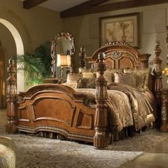I like this classical bedroom furniture