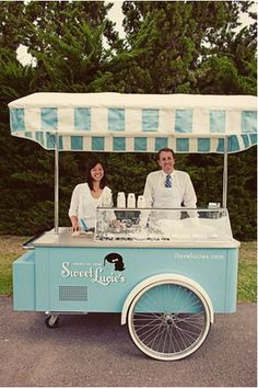 Wedding Ice Cream Cart for reception or after ceremony, for summer weddings