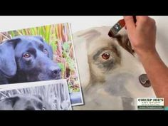 How to Paint a Dog's Face with Watercolor Artist Nancy Couick-Part 2 - YouTube