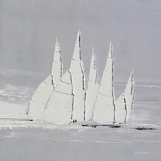 Dans la vague  | 60 x 60 cm | Huile sur toile