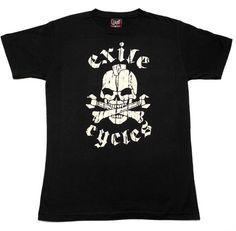Exile Cycles Girls The Menace,  Black  T-shirt, Cycling, Girls, Mens Tops, T Shirt, Clothes, Black, Fashion, Toddler Girls, Supreme T Shirt