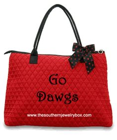PERSONALIZED QUILTED BAGS, TOTES AND LUGGAGE SETS - Red and Black - CLICK TO SEE SELECTION