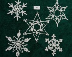 Crocheted Snowflakes - set 33