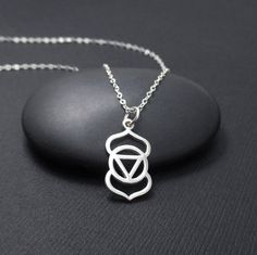 Third Eye Chakra Necklace Sterling Silver by themoonflowerstudio