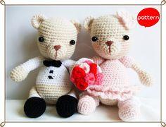 Teddy Couples Crochet Pattern PDF by AmigurumiByAhmaymet on Etsy, $5.99