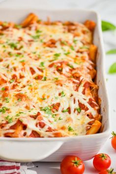 This Baked Ziti with Sausage is so comforting and delicious. My kids gobbled this up and I'm sure it will become a family favorite your house too! Yummy Pasta Recipes, Best Dinner Recipes, Cooking Recipes, Vegan Recipes, Quiche Recipes, Casserole Recipes, Fall Recipes, Soup Recipes, Al Dente