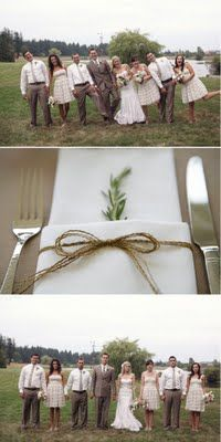 Love the napkin idea... I'm thinking maybe a sprig of lavender or rosemary?