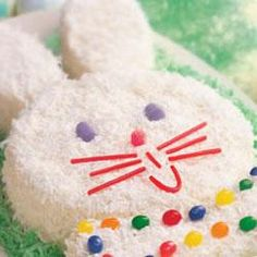 Easter Bunny Cake Allrecipes.com recipe is at:     http://allrecipes.com/recipe/easter-bunny-cake/