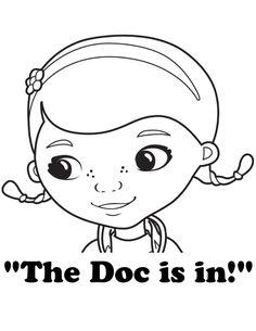 free dr mcstuffin coloring pages - photo#29