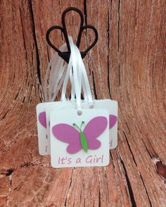 It's a Girl MINI Favor Tags  It's a Girl by GraciousBeeGreetings