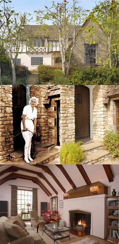 Jean Harlow's allegedly haunted home at 1353 Club View Drive, Los Angeles, CA, 90024. (Bizarre Los Angeles)