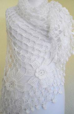 crochet flower shawl