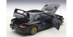 Subaru Impreza 22B with Carbon Fibre Bonnet Upgraded 1998 Black AUTOart 78604