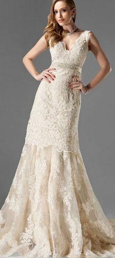 #lace #bridal #gown #wedding #dress