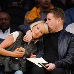 Pin for Later: James Corden Cuddling His Wife Will Make You Feel All Warm Inside