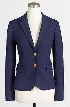 This is my favorite navy blazer!  On sale now from JCrew Factory!