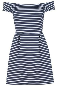 Off Shoulder Striped Dress by Wal G, £27.00, Topshop.com