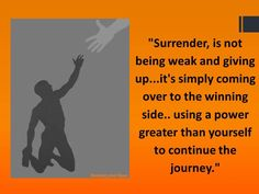Surrender... You will see his miracles work within you.