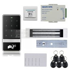 (87.20$)  Buy here  - DIYSECUR 8000 User 125KHz RFID Reader Password Touch Keypad Door Access Control Security System Kit C60