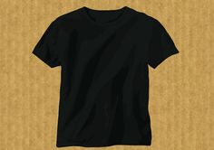 Free Download »   http://www.t-shirt-template.com/black-t-shirt-template/   Black vector t-shirt template from John Rinkenberg   T-shirt Vector & PSD templates you can use them to preview how your illustration or apparel design would look garment after you printing the garment. www.T-Shirt-template.com has the collection of best free templates for download. More free template,     Mens Tank Top Template   T Shirt Model Template   White Tshirt Front And Back