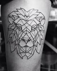 Bildergebnis für geometric lion drawing