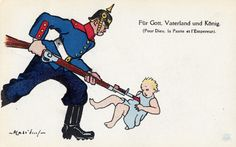 A popular WWI myth described how German soldiers killed babies and young children in Belgium and France with their bayonets.  Again, such stories have never been confirmed, although the Germans did kill many innocent civilians in Belgium.
