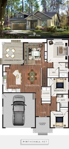 Cabins And Cottages: Beaver Homes and Cottages - Brookside - created vi. Sims House Plans, Ranch House Plans, New House Plans, Dream House Plans, Small House Plans, Beaver Homes And Cottages, Cabins And Cottages, Home Gym Design, House Design