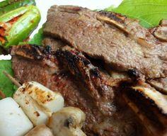 My kalbi is a bit different, but pretty much the same delicious bbq-ness! :)