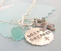 ocean dreamer stamped necklace $56.00 #simpledaisy