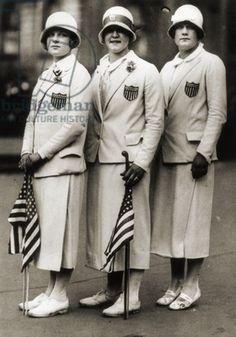 Aileen Riggin, Gertrude Ederle, Helen Wainwright, Three American Olympic Swimming Champions, 1924 (b/w photo)/ American photographer
