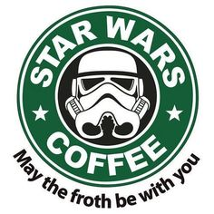 May The Froth Be With You - Star Wars Coffee - Square Wooden Coaster: Amazon.co.uk: Kitchen & Home