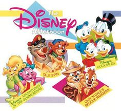 "Disney's ""Adventures of the Gummi Bears"", ""Chip 'n Dale's Rescue Rangers"", ""Tale Spin"", ""Duck Tales"""