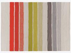 LAUTO MULTI-COLOURED Cotton Large multi-colour striped flat weave cotton rug 170 x 240cm - HabitatUK