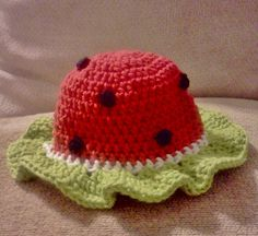 watermelon sun hat size 25t   ready to ship   by isabellaandviolet, $18.00