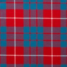 Hamilton Red Lightweight Tartan by the meter – Tartan Shop
