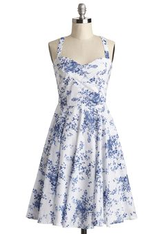 Garden Home Tour Dress in Delft, #ModCloth