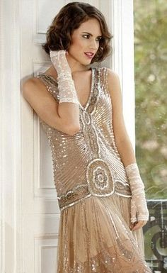 -Fabulous 20's inspired gown for bridesmaids or maid of honor <3