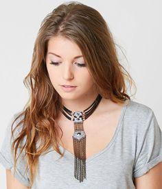 BKE Choker Necklace - Women's Accessories in Black Silver Gold | Buckle