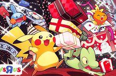 mudkip, pikachu, treecko y torchic