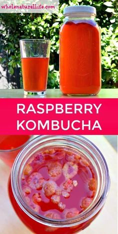 How to Make Raspberry Kombucha - Whole Natural Life Kombucha Flavors, Probiotic Drinks, Kombucha Tea, Flavored Kombucha Recipe, Kombucha Brewing, Probiotic Supplements, Milk Shakes, Healthy Drinks, Healthy Recipes