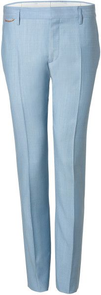 MARC JACOBS Blue Wool Trousers