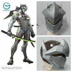 Overwatch OW Genji Cosplay Helmet Prop