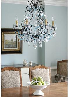 Antique Bronze Crystal Chandelier. #laylagrayce #chandelier