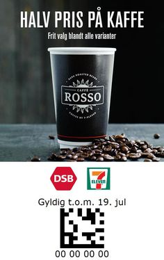 7-Eleven and DSB Denmark 7 Eleven, Dark Roast, Denmark, Coupon, Tableware, Dinnerware, Coupons, Tablewares, Dishes