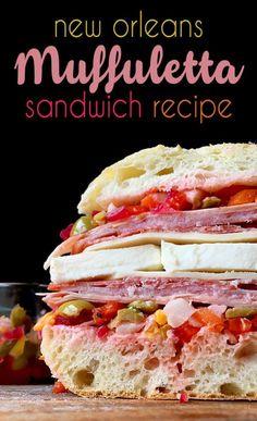 classic new orleans style muffuletta sandwich recipe with ...