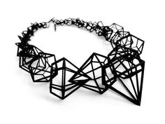 """Jewelry Necklace """"Stereodiamond"""" necklace, printed jewelry designed by Geraldesign-DEJEAN GERALD - Check out Stereodiamond Necklace by geraldesign on Shapeways and discover more printed products in Pendants and Necklaces. Contemporary Jewellery, Modern Jewelry, Jewelry Art, Jewelry Necklaces, Fashion Jewelry, Jewelry Sketch, Prom Jewelry, Bijoux Design, Jewelry Design"""